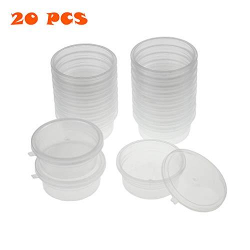 20 STKS Foam Ball Opslag Containers Met Deksels, Doorschijnend Herbruikbare Slijm Opslag Bekers voor Lijm/Water/Cosmetisch/Plasticine