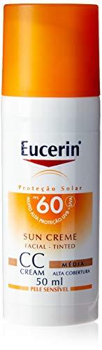 Protetor Solar CC Cream Médio FPS 60, 50 ml, Eucerin