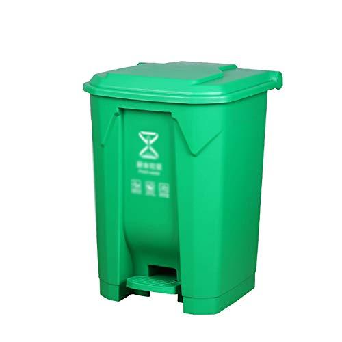 Outdoor trash can Chang-S-Q-123 Contenedores De Reciclaje De Basura De Plástico, 4 Colores Pedal Tipo Dustbin Home Kitchen Hotel Multifuncional Basura De Basura Papelera, 45L(Size:45L,Color:A)