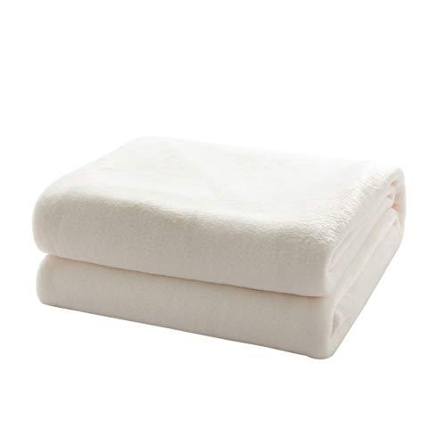 Mixibaby Kuscheldecke Flauschige extra weich & warm Wohndecke Flanell Fleecedecke, Falten beständig/Anti-verfärben als Sofadecke oder Bettüberwurf, Maße Decke Sarah:150 cm x 200 cm, Farbe:Weiss