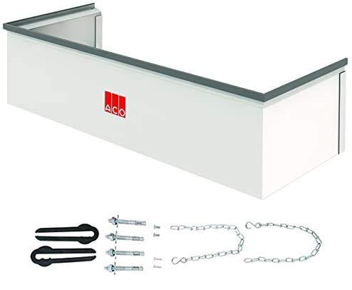 ACO Therm Aufsatz für 40 cm tiefen Lichtschacht fixes Aufstockelement INKLUSIVE befahrbares Montageset 1000 x 275 mm