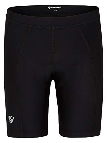 Ziener Unisex Kinder CHOTO X-Function Fahrrad-Tight/Rad-Hose - atmungsaktiv schnelltrocknend gepolstert, Black, 140