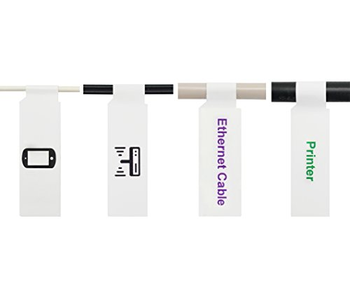 Mr-Label (10 Hojas, 300 Etiquetas A4 Etiqueta autoadhesiva por Cable - con la Herramienta Gratuita en línea de impresión - Impresión de inyección de Tinta (Blanco) (Blanco)