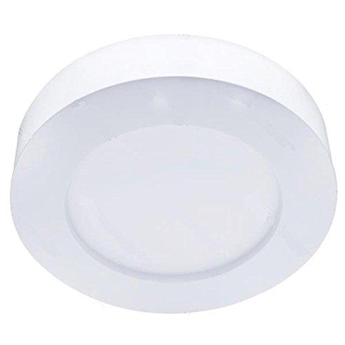 Aigostar 005268- Luces de techo LED, 20W, Redondas, E6, Luz cálida 6000K 1450lm, marco de metal, Luces modernas de bajo consumo para interiores -20 ~ 40 ℃, No regulable, Superficie