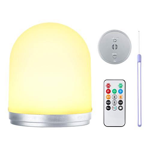 Mangsen RGB, luz nocturna para niños, lámpara de noche, lámpara de noche, lámpara de noche, luz de ambiente para dormitorio, salón, lámpara de mesa para leer