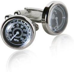 Speed Gauge Cufflinks Car Speedometer Cuff Links