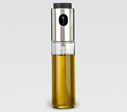Life Style - Dosificador y pulverizador para aceite y vinagre, de acero inoxidable y vidrio 100 ml