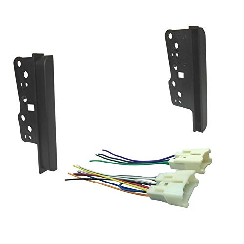 LIUWEI Soportes de Radio Cabritos para Toyota SICIO Doble DIN DIN Panel Estéreo Fascia DVD Dash Mount Side Side Kit (Color Name : Brackets with Cable)