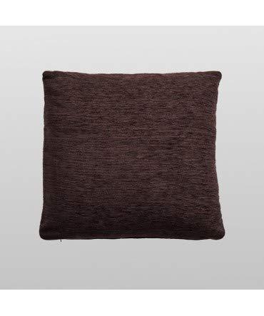 10XDIEZ Funda de cojín Chenilla marrón - Medidas cojin - 60x60cm