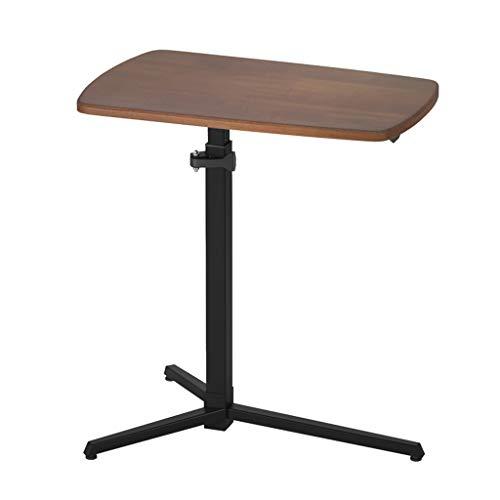 C Tabla C Mesa para Sofá C Table Tabla Tabla Ajustable Altura Ajustable Mesa De Noche Altura Ajustable Altura Laptop Levantamiento Sofá Mesa Auxiliar (Color : Brown, Size : 62 * 38 * 63-83.5cm)