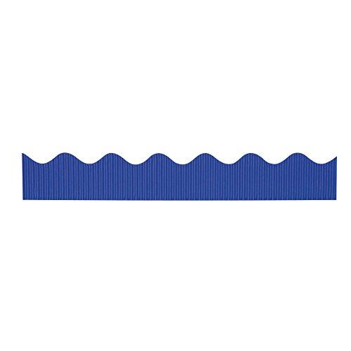 "Bordette Scalloped Decorative Border P37204, 2-1/4"" x 50', Royal Blue, 1 Roll"