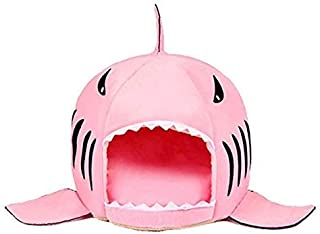 Spring Fever Shark Pet Dog Cat Bed Round Removable Cushion Waterproof House