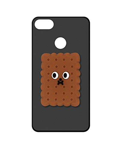 Sunrive Kompatibel mit ZTE Nubia Z18 Hülle Silikon, Handyhülle matt Schutzhülle Etui 3D Hülle Backcover (A1 Cookies) MEHRWEG+Gratis Universal Eingabestift