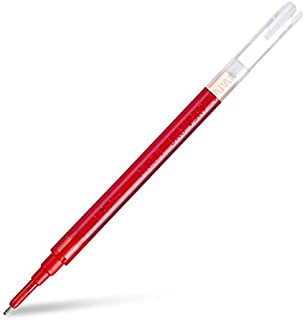 Vesna 12Pcs BXS-V5RT(VR5) Gel Ink Pen Refill for Hi-Techpoint BXRT-V5/GR5 Liquid Ink 0.5mm Rollerball Pen Black/Blue/Red Color (Red)