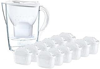 BRITA Kit Marella avec 13 filtres Maxtra + – Carafe filtrante pour Eau, capacité 2,4 L, Blanc, 13 filtres Maxtra + Inclus