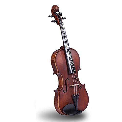 Violín Los estudiantes principiantes de violín empacan con el arco de la caja fuerte de la resina alumnos hechos a mano acústica Adecuado Para Niños y Principiantes. ( Color : Brown , Size : 3/4 )