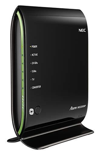 NEC Aterm 無線LAN親機 WiFiルーター 11ac/n/a/g/b 1733Mbps 450Mbps 4LDK 3階建 接続台数18台 WG2200HP PA-WG2200HP