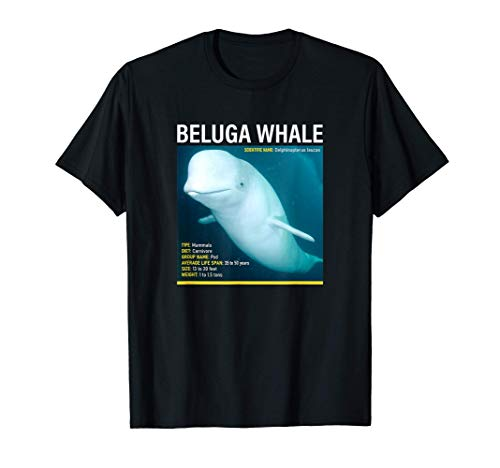 National Geographic Beluga Whale Infographic T-Shirt