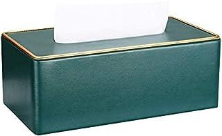 Skórzana skrzynka na tkanki, taca serwetka, marmurowa szuflada, światło domowe Luksusowe styl szuflady do biurka domowego,...