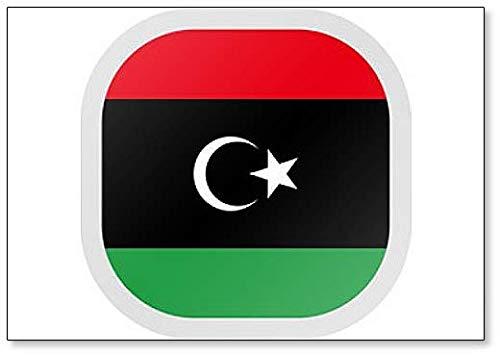 Kühlschrankmagnet, quadratisch, mit Flagge Libyen
