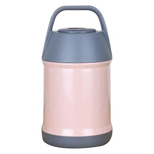 Cabilock Boîte à repas isotherme en acier inoxydable - Boîte à bento empilable - Longue durée - Pour l'hiver - Portable - Rose