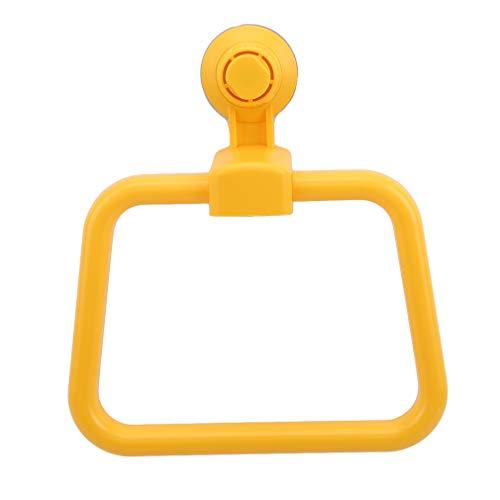 unknow FEITeng Soporte de pared para toalla de baño, toalla de mano, anillo cuadrado, accesorios de baño, amarillo