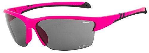 R&R R2 Sportsonnenbrille Hero für Kinder | Sonnenbrille | Radbrille | Laufbrille | (Pink)