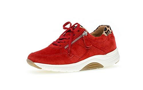 Gabor Mujer Zapatillas, señora mínimo, Calzado bajo,Calzado de Calle,Calzado Deportivo,Suela de Plataforma,Ocio,Flame/Natur,41 EU / 7.5 UK