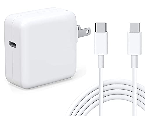 Yemo 30W USB C Fast Charger, Compatible with iPad Pro 12.9, 11 New 2021/2020/2018, New Air 4, MacBook Air Charger 2018Late 13 inch 12 inch, iPhone 12 Pro Max, Pixel, Galaxy (6.6ft USB C to C Cord)