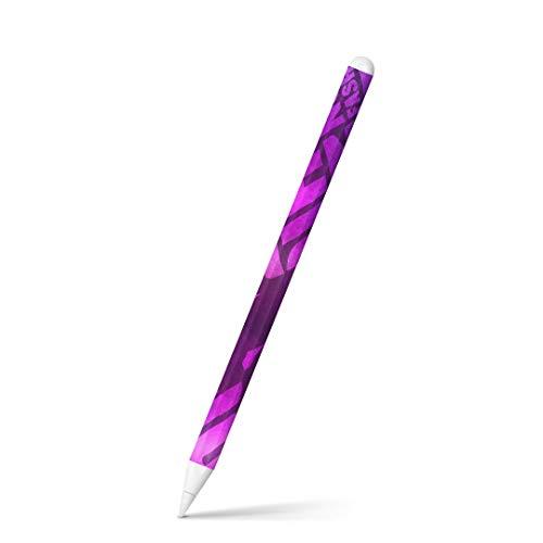 igsticker Apple Pencil 第2世代 専用スキンシール アップル ペンシル対応 シール ステッカー アクセサリー クール 英語 文字 人物 紫 パープル 007681