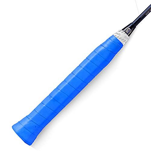 DADM Nuevo Tenis antideslizante absorbente de sudor cinturón brillante raqueta de bádminton Grip Handle Tape Fishing Rod Winding Strap (azul)