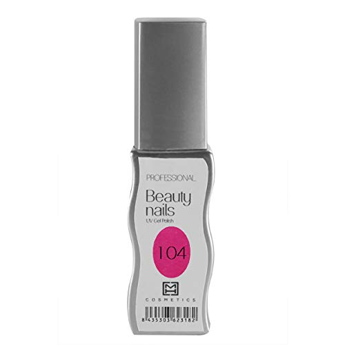 MH Cosmetics Gel Polish Semipermanent 104 Neon Pink, 1 x 10 ml