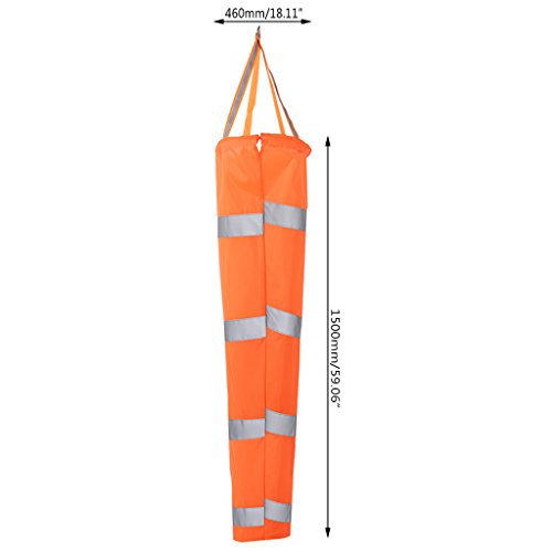 JENOR Sac à air réfléchissant 80/100/150 cm avec ceinture d'aviation pour manches à air
