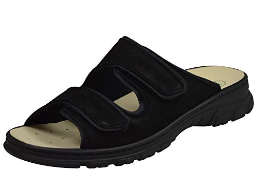 Algemare 6446 Damen Pantoletten Wechselfußbett schwarz (40)