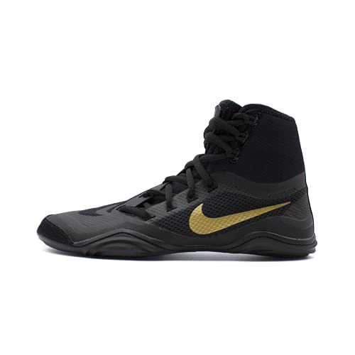 Nike Hypersweep Mens Wrestling Shoes 717175-001 Size 11.5 Black/Metallic Gold