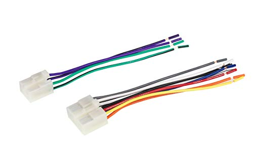 Scosche TA02RB Compatible with Select 1984-17 Toyota Power/Speaker Connectors/Wire Harness for Re-Installing The Factory Stereo with Color Coded Wires