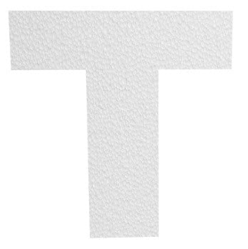 Lettera 3D in polistirolo (10 cm) 2 cm spessore - SCEGLI LA LATTERA - - T
