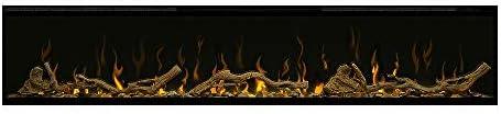 Dimplex IgniteXL 60 Inch Electric Fireplace w Driftwood Log Kit XLF60 LF74DWS KIT product image