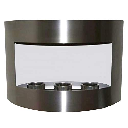 Great Features Of Gel + Ethanol Fire-Places Ethanol Fireplace Model Marseille Stainless steel