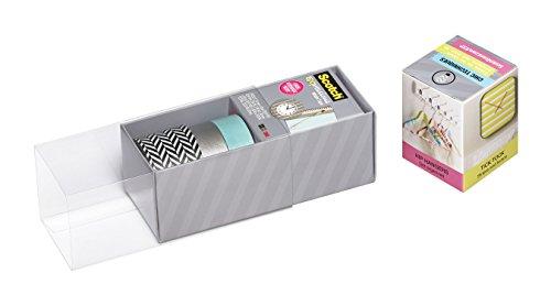 Scotch Expressions Washi Tape, Multi-Pack with Storage Box, Blue/Silver, 3 Rolls (C317-3PK-ZIG) Photo #2
