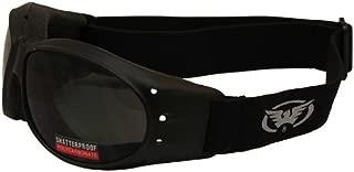 Global Vision Eliminator Motorcycle Goggles (Black Frame/Dark Smoke Lens)