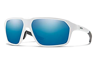 Smith Pathway Sport Sunglasses, Matte White/ChromaPop Polarized Blue Mirror, One Size
