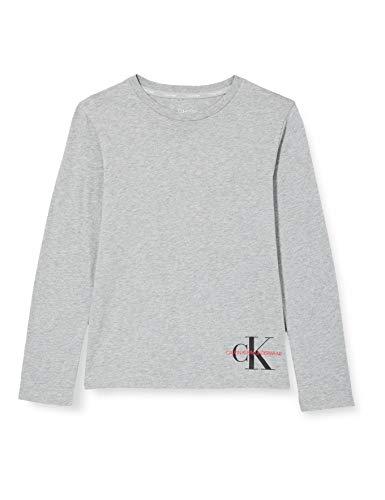 Tommy Hilfiger tee Camiseta de Pijama, Grey Heather Bc05, 10-12 Jahre para Niños