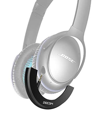 ZIOCOM Adaptador Bluetooth para Auriculares Bose QuietComfort QC25, Adaptador de Receptor de Auriculares Inalámbrico Bluetooth con Micrófono/Control de Volumen(Solo Adaptador)