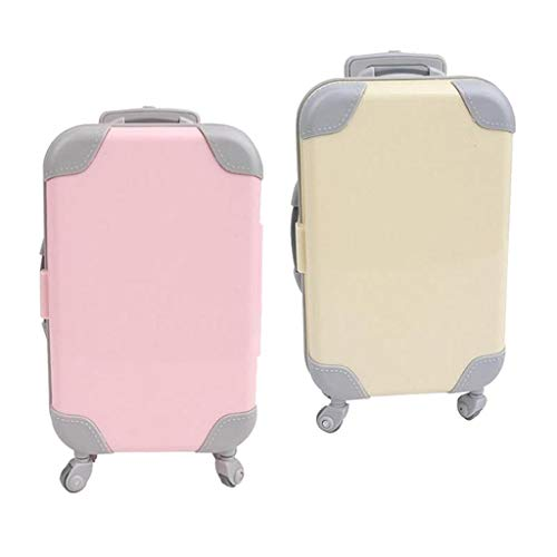 SM SunniMix 2x Lovely Doll Suitcase Simulation Suitcase for Baby Accessories