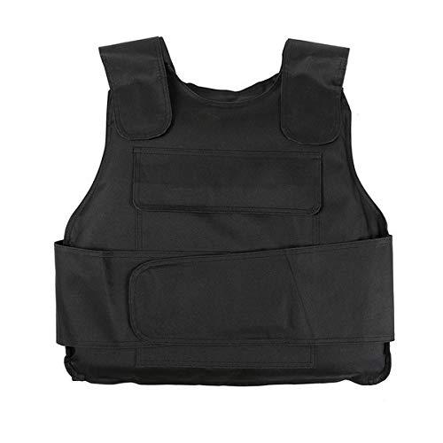 Kerta Taktisk väst, justerbar skyddande skottsäker väst, infogbar skottsäker bräda (utan Kevlarchip)