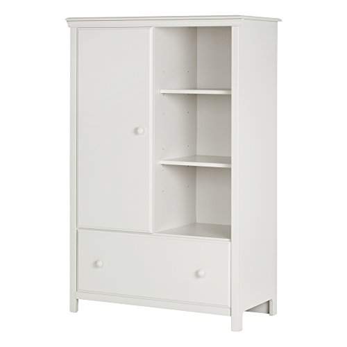 Check Out This South Shore Cotton Candy Armoire with Drawer, Pure White