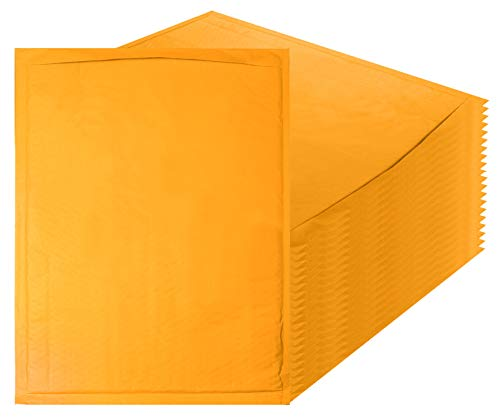Amiff Kraft Bubble mailers 14.25 x 19 Padded envelopes 14 1/4 x 19. Pack of 10 Kraft Paper Cushion envelopes. Exterior Size 15.5 x 20 (15 1/2 x 20). Peel & Seal. Mailing & Shipping & Packing.