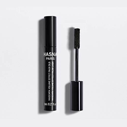 Rímel negro sensacional de HASNA PARIS para maquillaje, ojos sensibles, rímel impermeable de secado rápido Máscara de pestañas extra Super Lash de fabricación orgánica