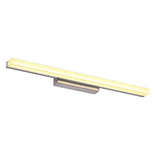 Lámpara Baño LED Lámpara De Espejo,simple Hacer-hacia Arriba Lámpara Acrílico Tonos Espejo Luz Frontal Mesa De Tocador Iluminación Luz Blanca 50cm/12w